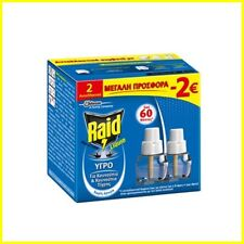 Repellent Mosquito Midge Fly Insect Bite RAID Liquid Refil Replace 21ml - 2-Pack
