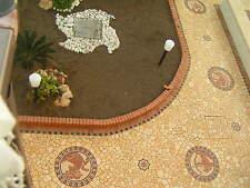 Rosoni in marmo, mosaici PALLADIANA IN MARMO giallo atlantide  INCOLLATA SU RETE
