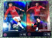 Panini soccer FootistaVer. Cristiano Ronaldo MVP Refractor card wccf sega