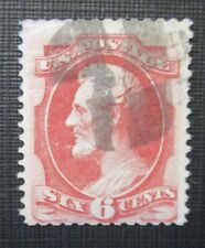 1873 US S#159 6c Lincoln, dull pink Used VG-F