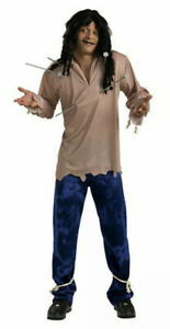 New VOODOO DOLL Men's Adult Costume ONE SIZE Halloween Standard (Up To 44) Pins