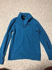 NWOT Mens The North Face Long Sleeve Blue Fleece 1/4 Zip Pullover Sz XS
