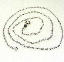 """Neues AngebotKette Halskette weiß vergoldet Lucky 88 Shape 50cm 19.5"""" x 1mm Männer Frauen UK"""
