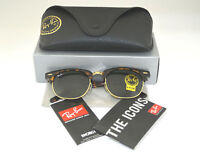 Ray Ban RB3016 Clubmaster W0366 Tortoise Frame/Green Classic G-15 Lens 51mm