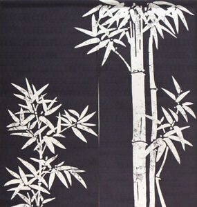 """Japanese Noren Curtain Home Business Tapestry Blue 35.5""""L x 33.5""""W Lucky Bamboo"""
