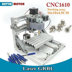 1610 GRBL Control Laser Machine +ER11 CNC Mini Working Area 160x100x45mm 3 Axis
