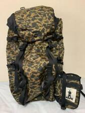 A Bathing Ape x Porter collaboration backpack Green Camo Used from Japan F/S