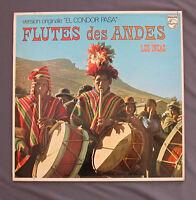 """Vinilo LP 12"""" 33 rpm FLUTES DES ANDES - LOS INCAS - EL CONDOR PASA"""