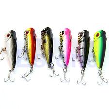 Popper Fishing Lures Crankbait Crank Lure Bait Tackle Treble Hooks 50mm 4.5g