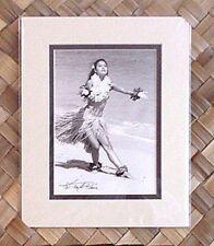 "Kim Taylor Reece ""He u'i"" 8 X 10 Double Matted Hawaiian Hula Print - New"