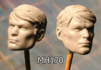 "MH170 Custom Cast Sculpt part Male head cast for use with 3.75"" action figures"