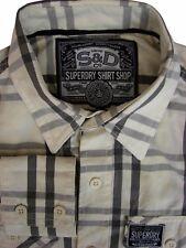 Camicia Superdry Da Uomo 15 S crema-grigio check