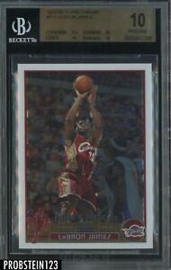 "2003-04 Topps Chrome #111 LeBron James RC Rookie BGS 10 PRISTINE "" FLAWLESS """