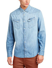 Wrangler - Maglietta Regular Fit Manica lunga Uomo Blu (blue (light Indigo))