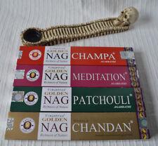 Skull Incense Stick Holder Set Vijayshree Golden Nag ashcatcher day of the dead