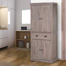 HOMCOM Freestanding Pantry Cupboard Storage Cabinet Home Organizer Furniture