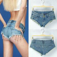 New Sexy Women Denim Mini Jeans Shorts Short Hot Pants Ultra Low Rise Waist