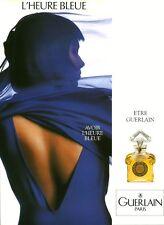 Publicité ancienne Parfum l'Heure Bleue Guerlain 1989 issue de magazine