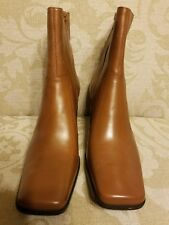 Nine & Co. Size 11 Carmel Brown Mid-Calf Boots with Leather Upper NEW Women