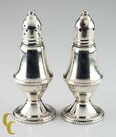 Vintage Duchin Weighted Sterling Silver/Glass-Lined Salt & Pepper Shakers