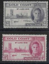 r162) Gold Coast. 1946. MM. SG133a,124a Victory . Omnibus Issue. P13 1/2