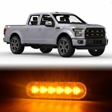 1PCS 18W Amber 6-LED Strobe Light Bar Car Truck Flash Warning Hazard Emergency