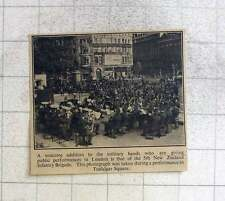 1940 5th New Zealand Infantry Brigade Military Band Performing Trafalgar Square