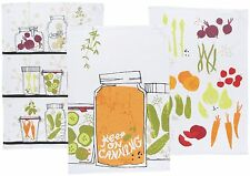 Danica Studio NOW DESIGNS Tea Towel SET OF 3 KEEP ON CANNING NWT 100% Cotton