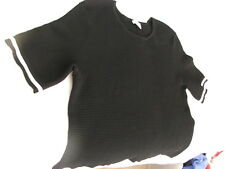 Witchery Black Short Sleeve Knitted Rib Top Size (L) (14) Maybe Bigger