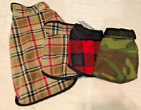 NEW All Star Dogs Reversible Fleece Dog Coat, Various Sizes and Styles