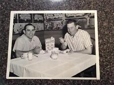 7x9 Original Photo Yogi Berra eating his Wheaties Ny Yankees