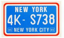 figurina U.S.A. TARGHE NUMBER PLATES EDIZIONE FIGURINA CLUB NEW NEW YORK
