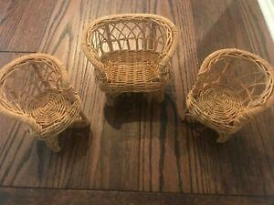Vintage Wicker Furniture Set 3 piece