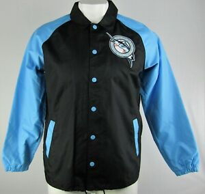 Florida Marlins MLB Starter Men's Throwback Snap Up Collared Windbreaker Jacket