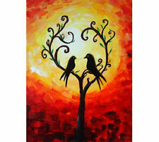 Tree,Love ,Birds, Tree of  love painting,contemporary artwork, wall art