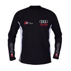 AUDI T-Shirt t shirt Langarm Trainings Sport Hergestellt in Europa ALLE Größen