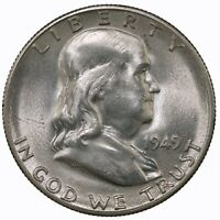 Raw 1949-S Franklin 50C Uncertified Ungraded US Mint Silver Half Dollar Coin