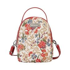 FLOWER MEADOW MINI PACK SMALL BACKPACK SIGNARE TAPESTRY CANVAS WOMEN  PRESENT