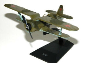 1:72 Polikarpov i-153 Soviet Airplane WWII Die Cast Model 24 DeAgostini