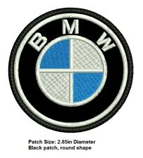 *Love It Or It'S Free* Bmw Iron on Patch embroidered on Black Fabric, Free Sh