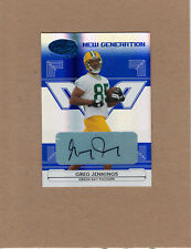 06 Leaf Certified Blue Auto GREG JENNINGS Rookie Autograph /50 MINT Packers RC