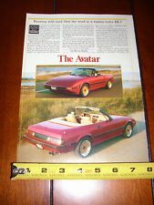 1982 AVATAR MAZDA RX7 CONVERTIBLE - ORIGINAL ARTICLE