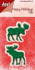Joy Crafts Metal Die Cutting Stencils Happy Holidays Moose Elk - 6002/0778