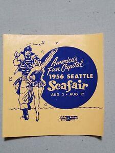 VTG 1956 Seattle Seafair Skipper Hydroplane Race Window Decal Sticker Label
