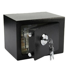 DIGITAL STEEL SAFE ELECTRONIC SECURITY HOME OFFICE MONEY CASH SAFETY BOX BLACK