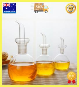 Italian Design Glass Seasoning Bottle Kitchen Oil Dispenser Soy Sauce Vinegar HQ