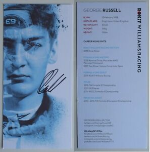 George Russell Signed Autograph 8x4 official photo Williams Racing Formula 1 COA