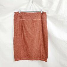 Prana Vertex Pencil Skirt Rust Heathered Womens Large Stretch Pockets