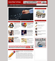 LEARN TO DRAW AFFILIATE WEBSITE WITH STORE + FREE DOMAIN AND HOSTING