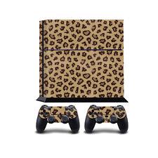 Leopardo piel PS4 PlayStation 4 Envoltura de Vinilo/Pegatina De Piel PlayStation 4 PS4 COV..
